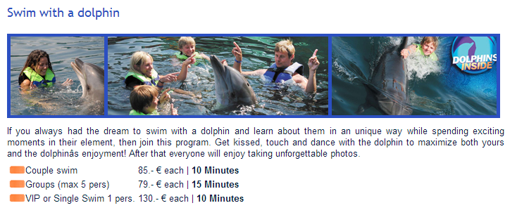 Swim with Dolphins in Marmaris - Prices